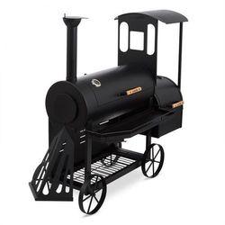 Klarstein Dampflok grill z wędzarnią stal 3 mm czarny (4260457488615)