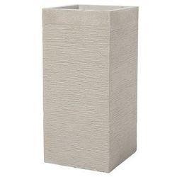 Doniczka beżowa kwadratowa 33 x 33 x 70 cm DION