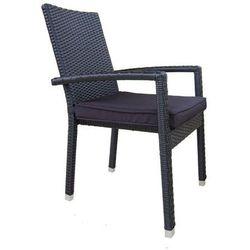Miloo Krzesło ogrodowe santa fe czarne