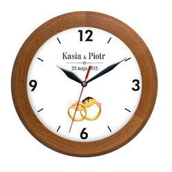 Zegar drewniany ŚLUB rondo
