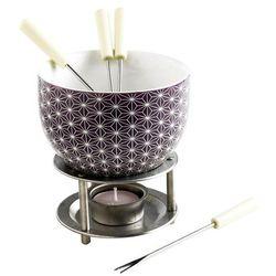 Mastrad - Czekoladowe fondue, zestaw – białe gwiazdki