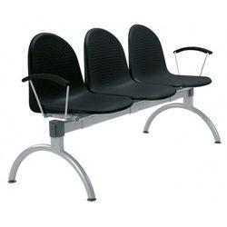 Krzesło amigo arm-3 - do poczekalni i sal konferencyjnych, konferencyjne, na nogach, stacjonarne marki Nowy styl