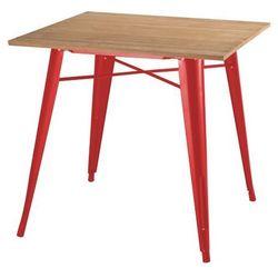 Stół TOWER WOOD czerwony - blat jesion/metal, GT-236U.RED.JES (7812725)