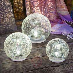 3-częśc. zestaw lamp solarnych led crackle ball marki Esotec