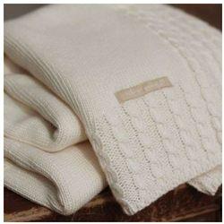 Organiczny kocyk dzianinowy natures knits, 90x90cm, marki Natures purest