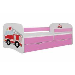 Łóżko dla dziecka, barierka, babydreams, straż pożarna, różowe