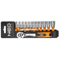 Zestaw kluczy nasadowych NEO 1/4 cala 08-652 (14 elementów) (5907558412963)
