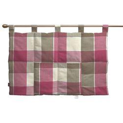 Dekoria Wezgłowie na szelkach, różowo-beżowa krata, 90 x 67 cm, Cardiff do -30%