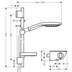 Zestaw radiance select 150 combi  biały/chrom 27036400 wyprodukowany przez Hansgrohe