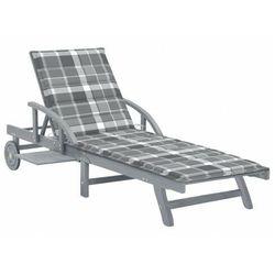 Elior Leżak ogrodowy w szarą kratkę - solar