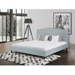 Łóżko błękitne - 160x200 cm - łóżko tapicerowane - MONTPELLIER - produkt z kategorii- Łóżka
