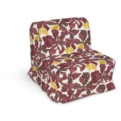 pokrowiec na fotel lycksele z kontrafałdami, żółto-brązowe kwiaty, sofa lycksele 1os., wyprzedaż do -30% marki Dekoria
