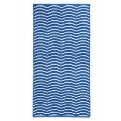 Dywaniki łazienkowe w falowane linie bonprix niebiesko-biały