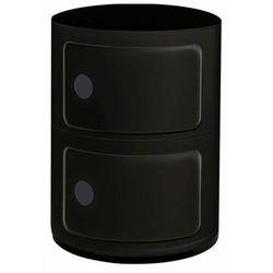 Czarna okrągła szafka nocna - Pris 3X