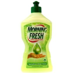 Płyn do mycia naczyń morning fresh super concentrate sensitive aleoe vera 450 ml, marki Cussons