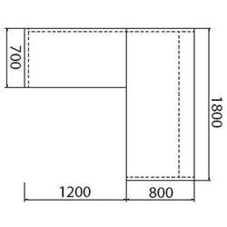 Biurko assist z dostawką, lewe, wzór merano marki B2b partner