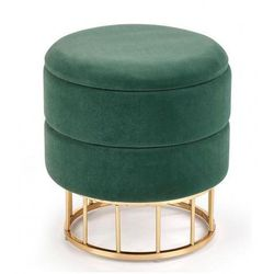 Okrągła pufa ze schowkiem isla - zielona marki Producent: elior