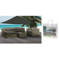 Osłona przeciwsłoneczna wodoodporna żagiel 5x5x5M BIAŁA, produkt marki ProGarden