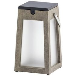 TINKA TECKA - Lampa zewnętrzna latarnia LED akumularowa % słoneczna Tek szary Wys.25cm25cm