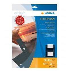 HERMA 7786 Koszulki folia PP 10x15 ( czarne )
