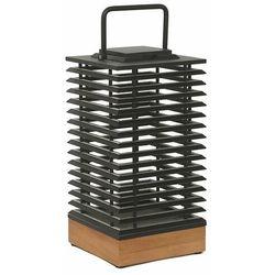 Les jardins Tekura-lampa solarna 500 lumenów drewno/beton wys.45,5cm