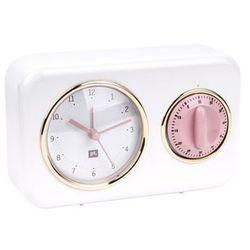 Pt, Budzik, zegar stojący nostalgia white z timerem kuchennym by