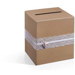 Pudełko na pieniądze, telegramy, 24 x 24 x 24cm.