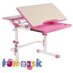Fundesk Lavoro l pink - regulowane biurko - szkolna promocja!