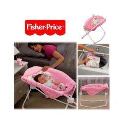 - łóżeczko różowe pink leżaczek od producenta Fisher price