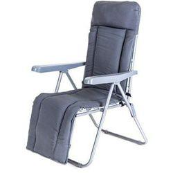 Happy Green krzesło ogrodowe składane MANILLA 74 x 57 x 106 cm, z oparciem na nogi, antracyt