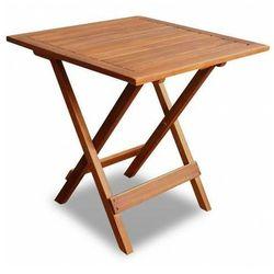 Brązowy drewniany stolik ogrodowy - Caden, kolor brązowy