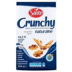 Sante Crunchy naturalne Płatki z pełnego ziarna owsa 350 g - produkt z kategorii- Płatki, musli i otręby