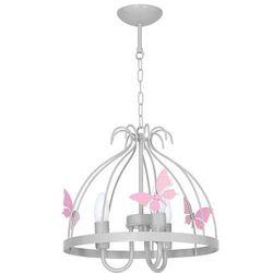LAMPA wisząca KAGO MLP 1170 Milagro metalowa OPRAWA do pokoju dziecięcego ZWIS motylki jasnoróżowe