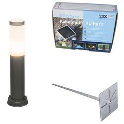 Lampa zewnętrzna Rox 45 cm ciemnoszara z klinem ziemnym i mufą kablową