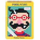 Kolorowanka z pixelami Mudpuppy - śmieszne buźki