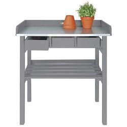 Esschert design  ogrodowy stół roboczy biały cf29g