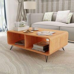 Vidaxl stolik do kawy 90x55,5x38,5 cm z drewna, brązowy