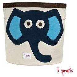 3 SPROUTS Kosz na zabawki/pranie - Niebieski słonik