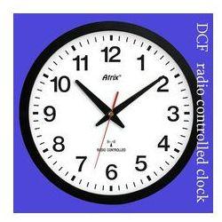 Zegar czarny sterowany radiowo #1, ATE0136RC
