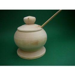 Rękodzielnik Pojemnik drewniany - cukiernica duża z łyżeczką