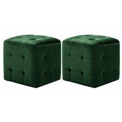 Elior Komplet dwóch zielonych puf do salonu i sypialni - zauri 4x