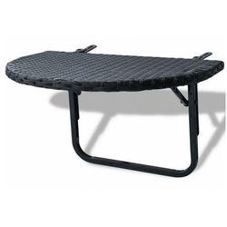 Czarny składany stolik ogrodowy - Patrick