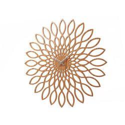 Karlsson:: Zegar ścienny Sunflower MDF drewniane wykonczenie - Śr. 60cm \ drewno