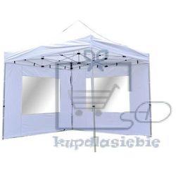 Garthen Pawilon ogrodowy profi rozkładany 3 x 3 m - biały 2 ściany (4025327361517)