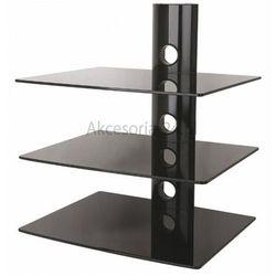 Szklana półka ścienna stolik rtv pod dvd dekoder marki Art