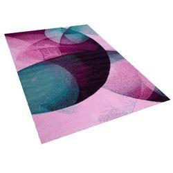 Beliani Dywan różowo-zielony 140 x 200 cm krótkowłosy edesa