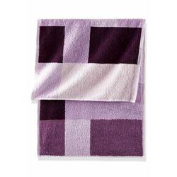 Bonprix Ręczniki z nadrukiem w kolorowe kwadraty dymny lila