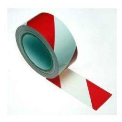Taśma ostrzegawcza samoprzylepna biało czerwona szerokość 50 mm wyprodukowany przez Rolka