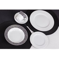 CHODZIEŻ VENUS BLACK&WHITE K244 Serwis obiadowy i kawowy 60/12, kolor czarny