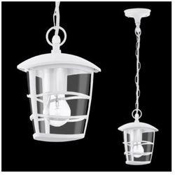 Eglo Zewnętrzna lampa wisząca aloria 93402  aluminiowa oprawa klasyczna ogrodowy zwis ip44 outdoor biały
